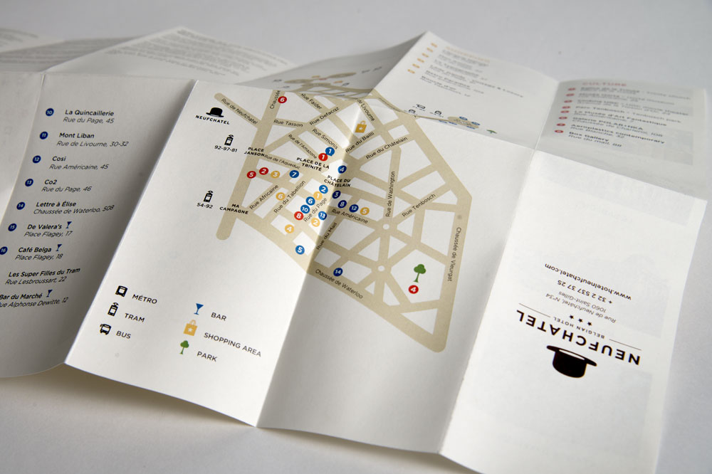 Hotel Neufchatel brussels corporate identity marie-laure wonka graphic design