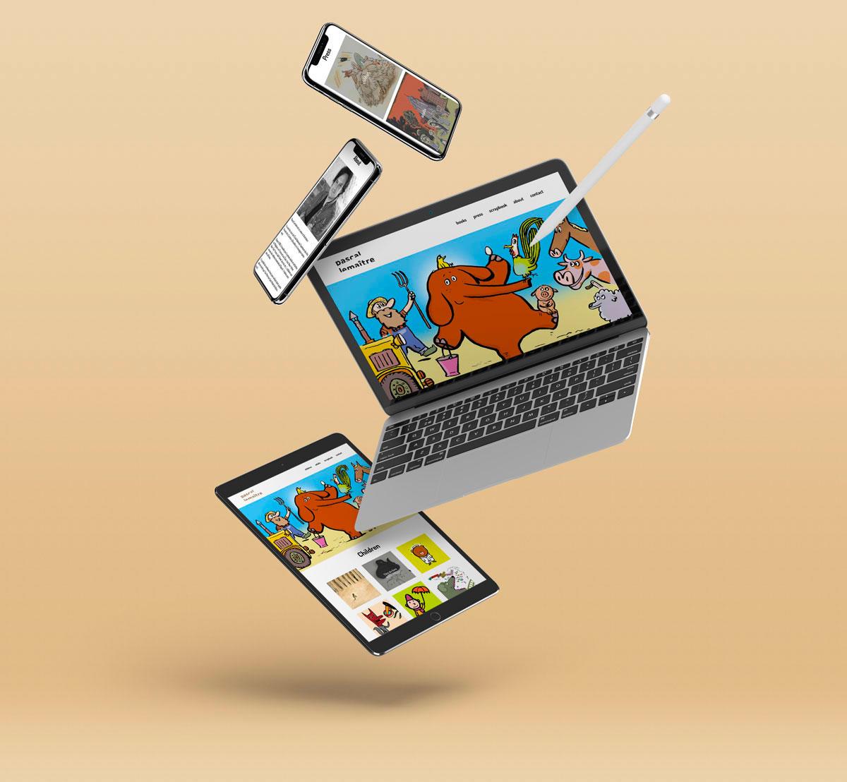 website pascal lemaitre illustrator illustrateur belge belgian